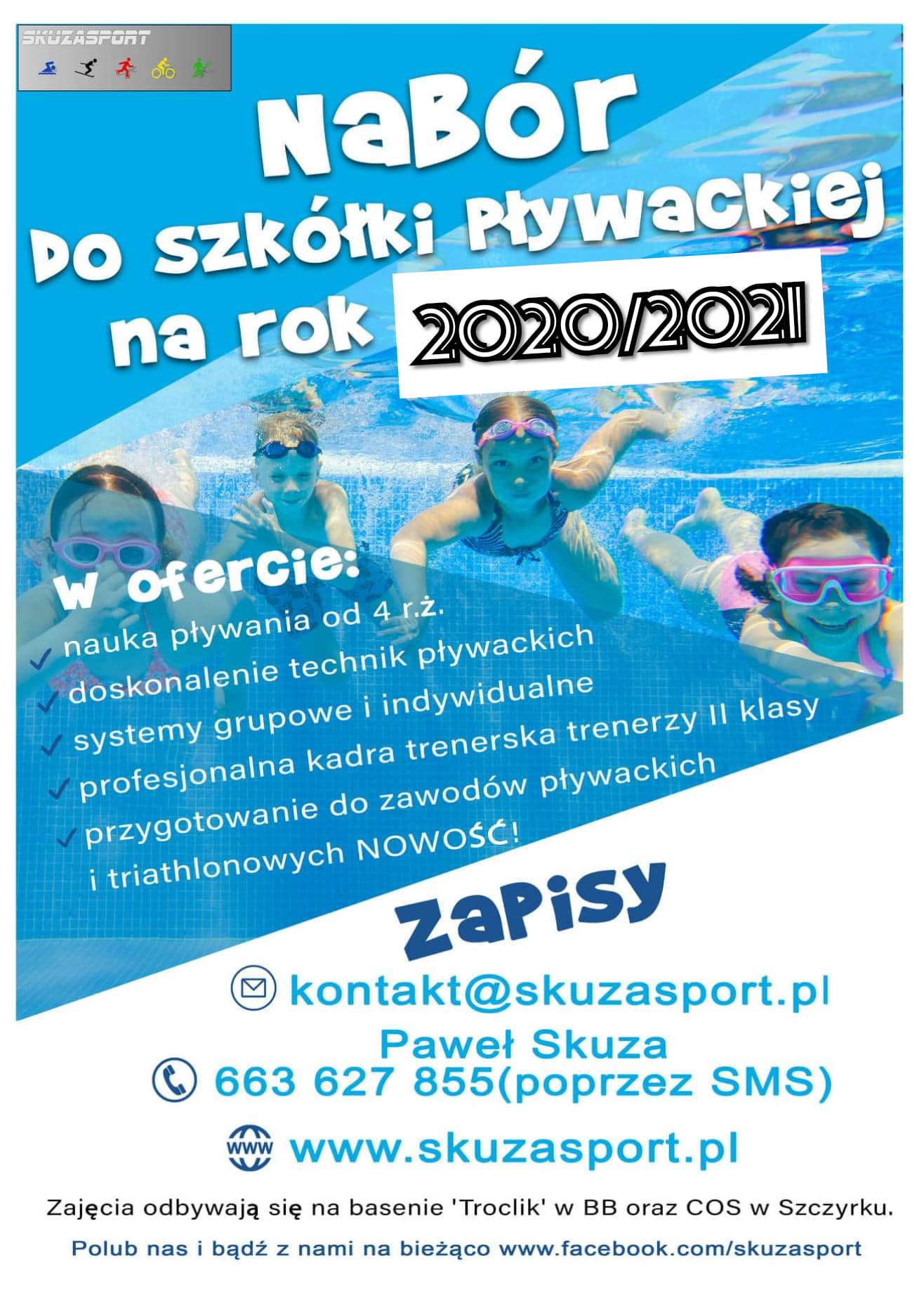 Nabór do szkółki pływackiej na rok 2020/2021